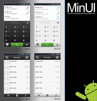 MinUI for GO Contacts EX and GO SMS Pro by iron2000