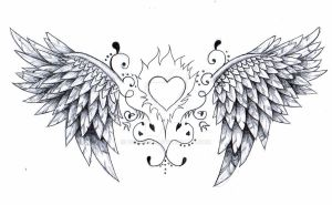 angel wings tattoo design by Born2Art