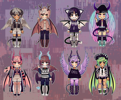 Set Price Demon Kiddos (closed) by Kariosa-Adopts