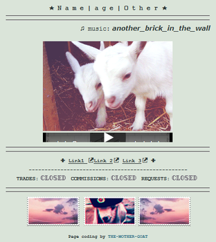[F2U Code] Goats by THE-MOTHER-GOAT