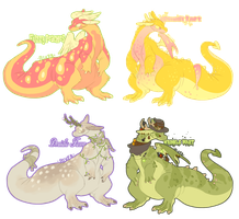 Pear shaped dragons (closed) by Cyboogs