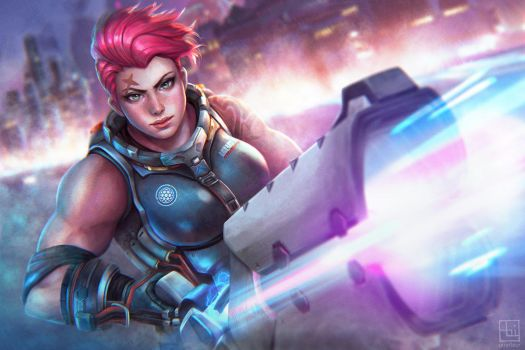 ZARYA - 21 Days of Overwatch by serafleur