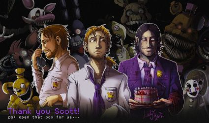 FNAF - Thank you Scott! by LadyFiszi