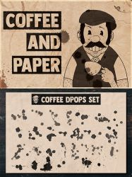 Coffee and Paper Handcrafted Pack Volume 01 by Lyova12