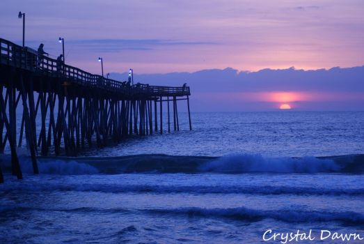 Avalon Pier Sunrise by poetcrystaldawn