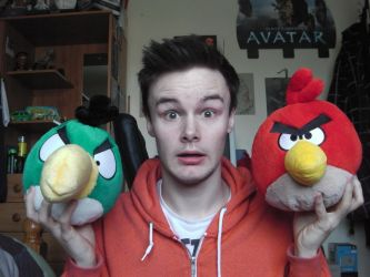 Angry Birds Plushies Red And Al The Boomerang by Collioni69