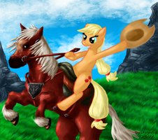 WTF is this Pony doing on Epona? by Dragonfunk7