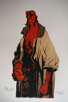Hellboy Fan Art by Alvarocorcin