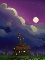 Tappy Witch Background by AmazingTrout