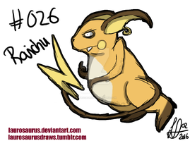 A year of pokemon: #026 Raichu by Laurosaurus