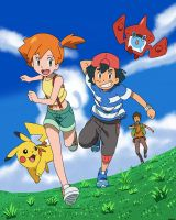 In Kanto, Alola! Ash, Misty and Brock by Spartandragon12