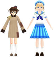 MMD Moldova and Fem!Sealand DOWNLOAD by HetaliaAmore