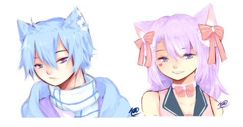 pastel children by anoneki
