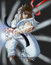 Ryu Hadouken - Paint by BrunoCerrato