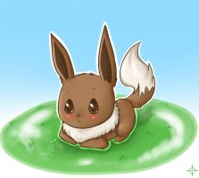 Chibi Eevee by Angel-soma