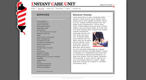 ICU Website 'Services' by tlsivart