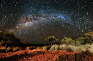 Milky Way and Spinifex by greykonos