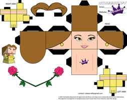 Cubeecraft of Belle from Beauty and the Beast PT1 by SKGaleana