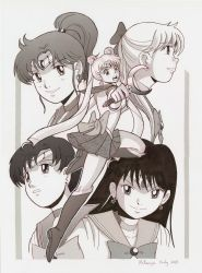 Sailor Moon and Scouts complete by RedShoulder