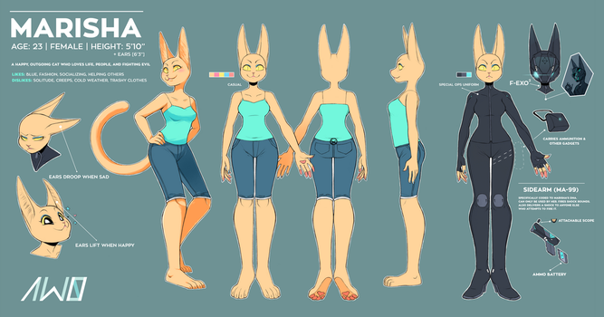 Marisha Official Ref Sheet by Aw0