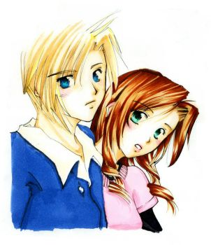 Another Cloud and Aeris Pic by Seii-Monogatari