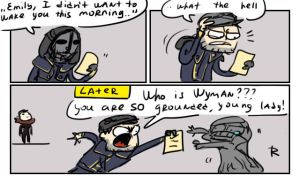 dishonored 2, doodles 20 by Ayej