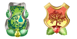 Apples and Pears Family Emblems by Stuflox
