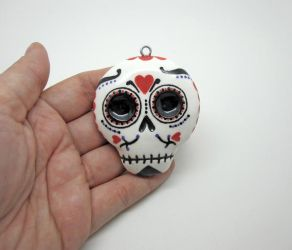 Day of the Dead Sugar Skull Ornament by egyptianruin