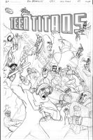 Teen Titans cover 65 wip by MrFixit741