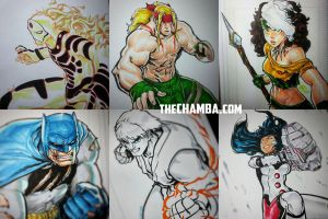 Some pre-SDCC2015 commissions by theCHAMBA