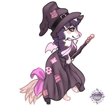 Patchwork Witch by celestialsunberry