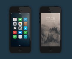 iPhone5 iOS7 by diggedy