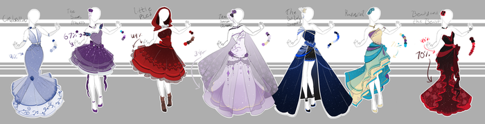 .::Adoptable Collection 1(CLOSED)::. by Scarlett-Knight