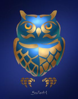 Blue Owl by Sentinelite