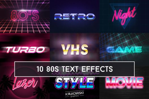VHS 80s Text Effect for Photoshop by mkrukowski