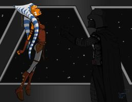 Darth Vader vs Ahsoka Tano by comicsarecool