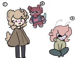 [OPEN] mixed adoptables! (2/3) by cosmoth