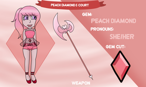 Peach Diamond App by Ladyadorkable