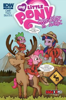IDW MLP FanExpo exclusive cover for issue 10 by katiecandraw