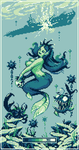Green Mermaid Pin Up by TRUEvector
