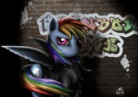 Rainbow Graffiti by Taliesin-the-dragoon
