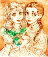 Ozma and Dorothy by DrMistyTang