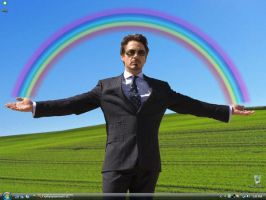 tony stark under the rainbow by sythpopsamurai