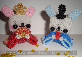 Japanese royal couple of beads by Zoey-01