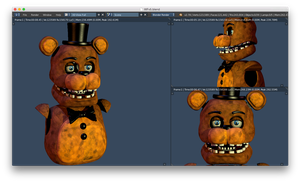 Withered freddy v5 head W.I.P 3 by CoolioArt