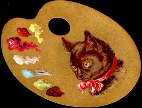 Victorian Advertising - Artsy Cat by Yesterdays-Paper