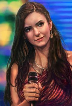 Nina Dobrev - Painting by tman2009