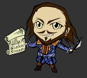 Shakespeare Chibi II - blue by SanityP