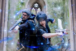 Noctis and King Regis by Gaioz