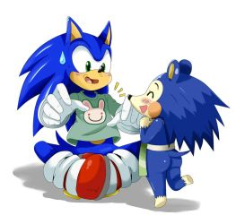 Sonic and Mabel by ss2sonic